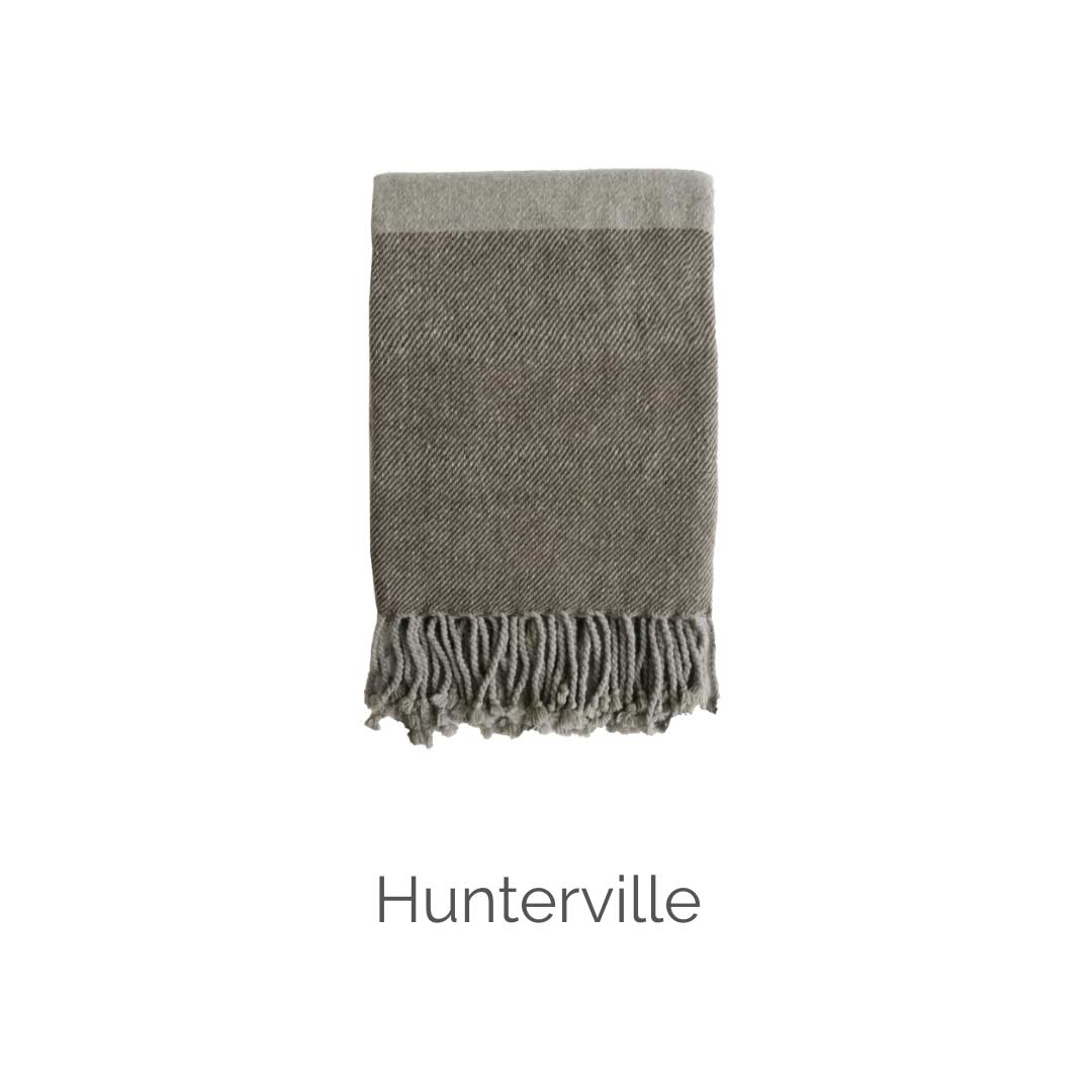 Hunterville wool throw Mulberi