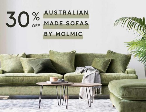 30% off Australian Made Sofas by Molmic