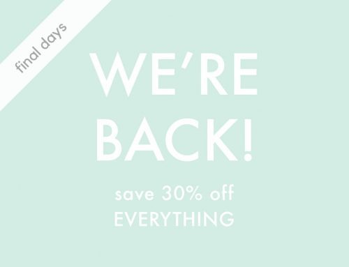 30% off EVERYTHING ends this Sunday!